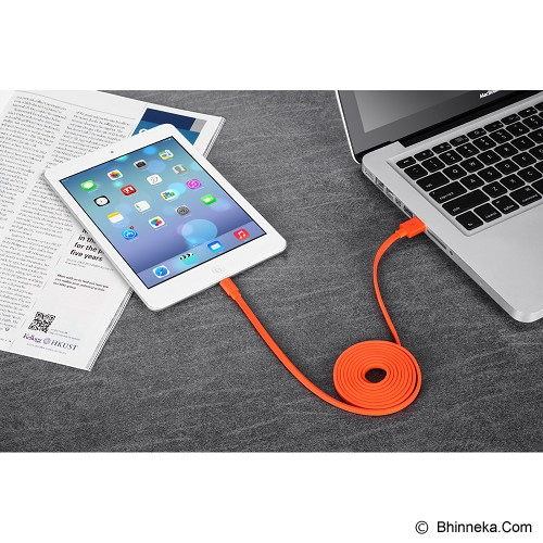 LETOUCH Lamour Lightning Cable MFI Colourful Sync/Charge 1.5M [USB-LETOUCH-LAMOUR-GN] - Hijau - Cable / Connector Usb